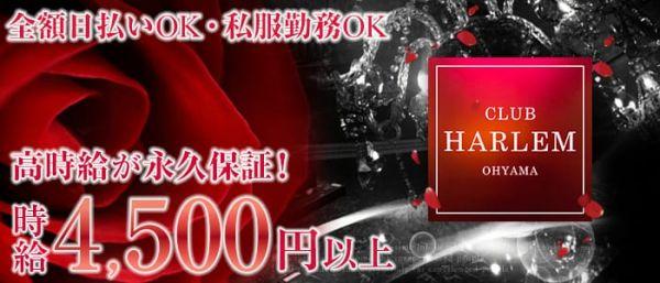 CLUB HARLEM OHYAMA[ハーレム](大山キャバクラ)のバイト求人・体験入店情報
