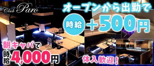 朝キャバ Club PARO[パロ](千葉キャバクラ)のバイト求人・体験入店情報