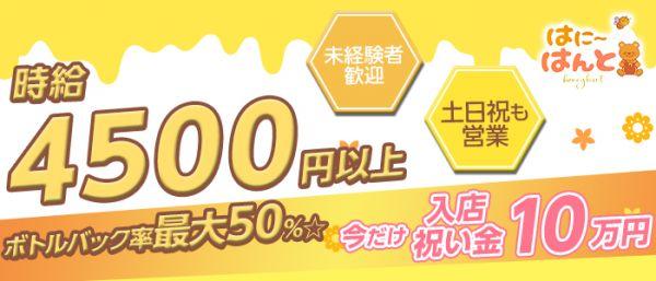 制服カフェ [はに~はんと](新橋キャバクラ)のバイト求人・体験入店情報