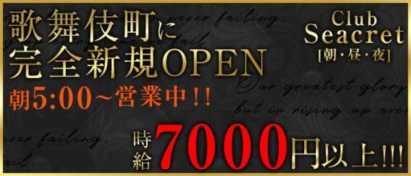 CLUB Secret[シークレット](歌舞伎町キャバクラ)のバイト求人・体験入店情報