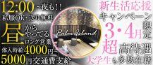 【 昼&夜 】パームアイランド バナー