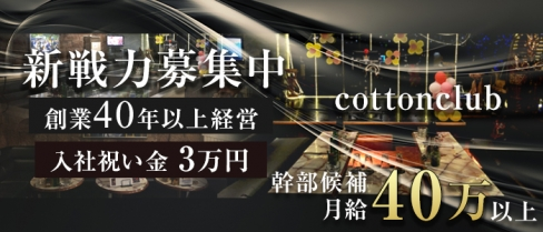 コットンクラブ【公式求人情報】(茅ヶ崎)のキャバクラボーイ・男性求人情報
