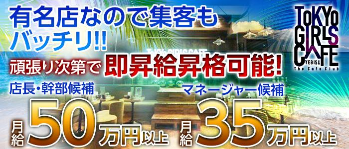 TOKYO GIRLS CAFE YEBISU(トウキョウガールズカフェ)【公式男性求人情報】 恵比寿キャバクラ バナー