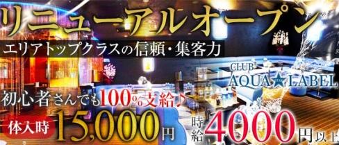 CLUB AQUA☆LABEL(アクアスターレーベル)【公式求人情報】(南越谷キャバクラ)の求人・バイト・体験入店情報