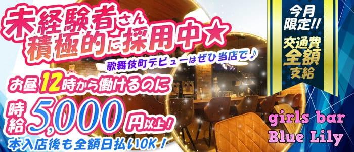 girls bar Blue-Lily(ブルーリリー)【公式求人・体入情報】 歌舞伎町ガールズバー バナー