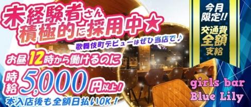 girls bar Blue-Lily(ブルーリリー)【公式求人・体入情報】(歌舞伎町ガールズバー)の求人・バイト・体験入店情報