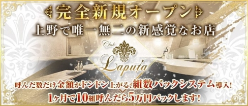 Club LAPUTA(ラピュタ)【公式求人・体入情報】(上野スナック)の求人・バイト・体験入店情報