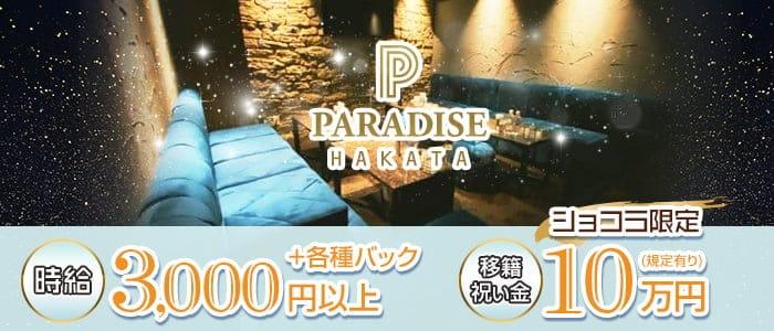 PARADISE 博多駅(パラダイス)【公式求人・体入情報】 中洲キャバクラ バナー