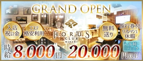 CLUB HORUS MINAMI(ホルスミナミ)【公式求人・体入情報】(難波ニュークラブ)の求人・体験入店情報