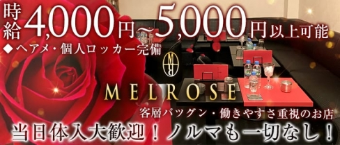 MELROSE~メルローズ~【公式求人情報】(恵比寿キャバクラ)の求人・バイト・体験入店情報