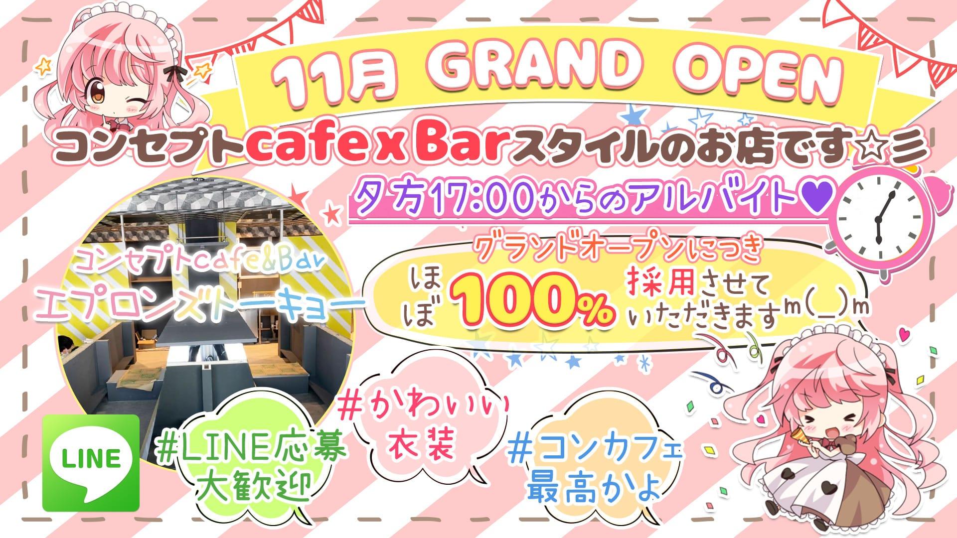 コンセプトcafe&Bar エプロンズ トーキョー 新橋ガールズバー TOP画像