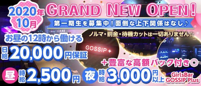 GirlsBar GOSSIP Plus(ゴシッププラス)【公式求人・体入情報】 池袋ガールズバー バナー