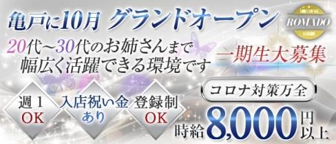 【亀戸】Girl's Lounge ROMADO(ロマド)【公式求人情報】(錦糸町姉キャバ・半熟キャバ)の求人・バイト・体験入店情報
