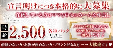 Dia More(ディアモア)【公式求人・体入情報】(三宮スナック)の求人・バイト・体験入店情報