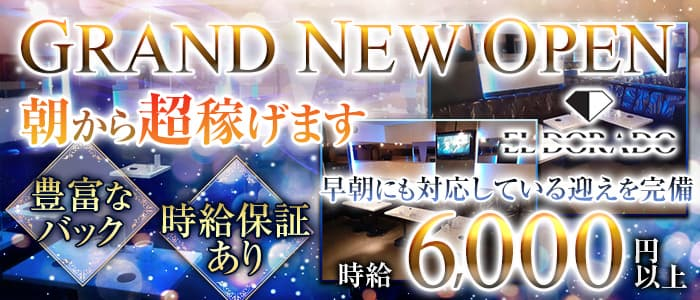【朝・昼】ELDORADO( エルドラド)【公式求人・体入情報】 歌舞伎町昼キャバ・朝キャバ バナー