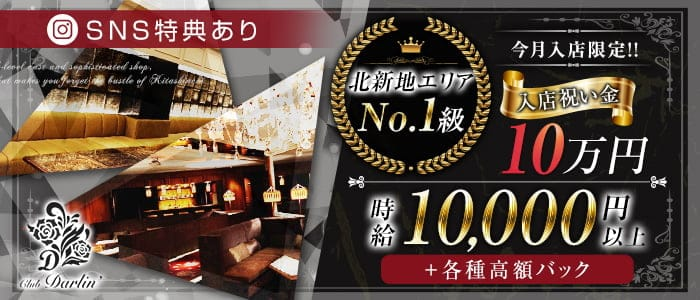 club Darlin(ダーリン)【公式求人・体入情報】 北新地キャバクラ バナー