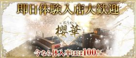 櫻華(おうか)【公式求人・体入情報】 都町キャバクラ 即日体入募集バナー
