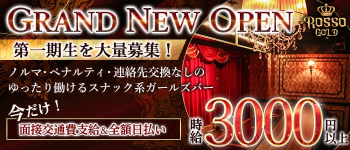 Girls Bar ROSSO GOLD(ロッソゴールド)【公式求人・体入情報】 渋谷ガールズバー バナー