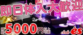 club es(エス) 新橋キャバクラ 即日体入募集バナー