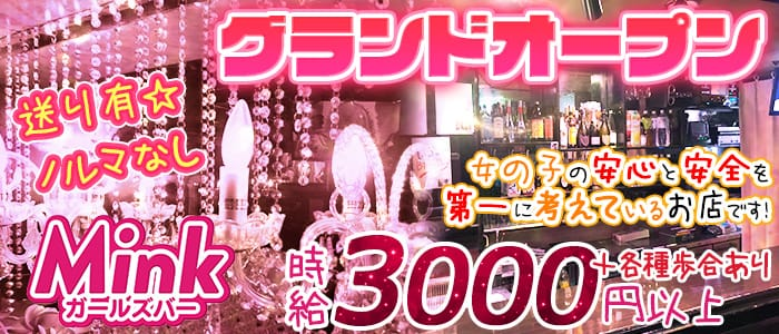 Girl's Bar MINK(ガールズバーミンク) 八王子ガールズバー バナー