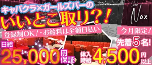 club Nox(ノックス)【公式求人情報】(ひばりヶ丘キャバクラ)の求人・バイト・体験入店情報