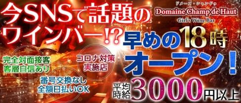 Domaine Champ de Haut(ドメーヌ・シャンドゥ)【公式求人情報】(上野ガールズバー)の求人・バイト・体験入店情報