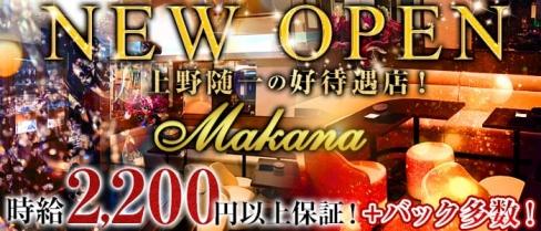 Makana(マカナ)【公式求人情報】(上野スナック)の求人・バイト・体験入店情報