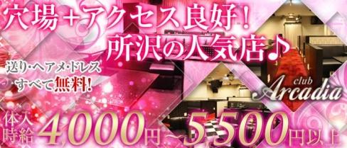 Club Arcadia 所沢店(アルカディア)【公式求人情報】(ひばりヶ丘キャバクラ)の求人・バイト・体験入店情報