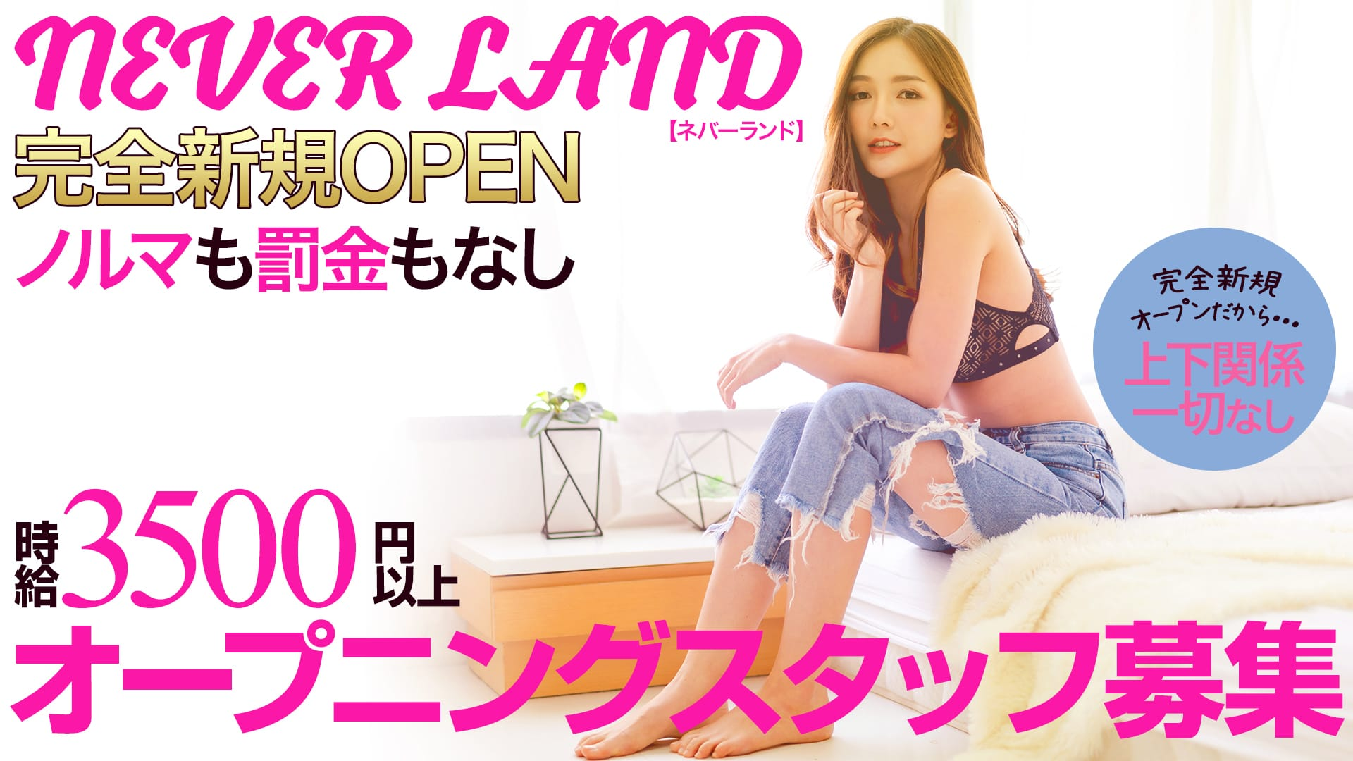 NEVER LAND (ネバーランド) 神田ガールズバー TOP画像