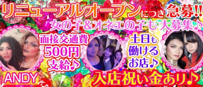 Girl's Bar ANDY(アンディー)【公式求人情報】
