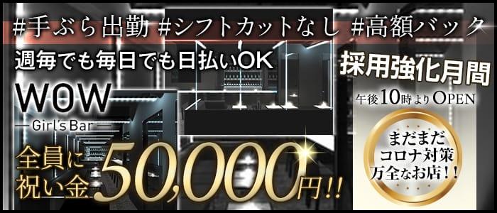 【昼・夜】Girl's Bar WOW(ワオ) 錦糸町ガールズバー バナー