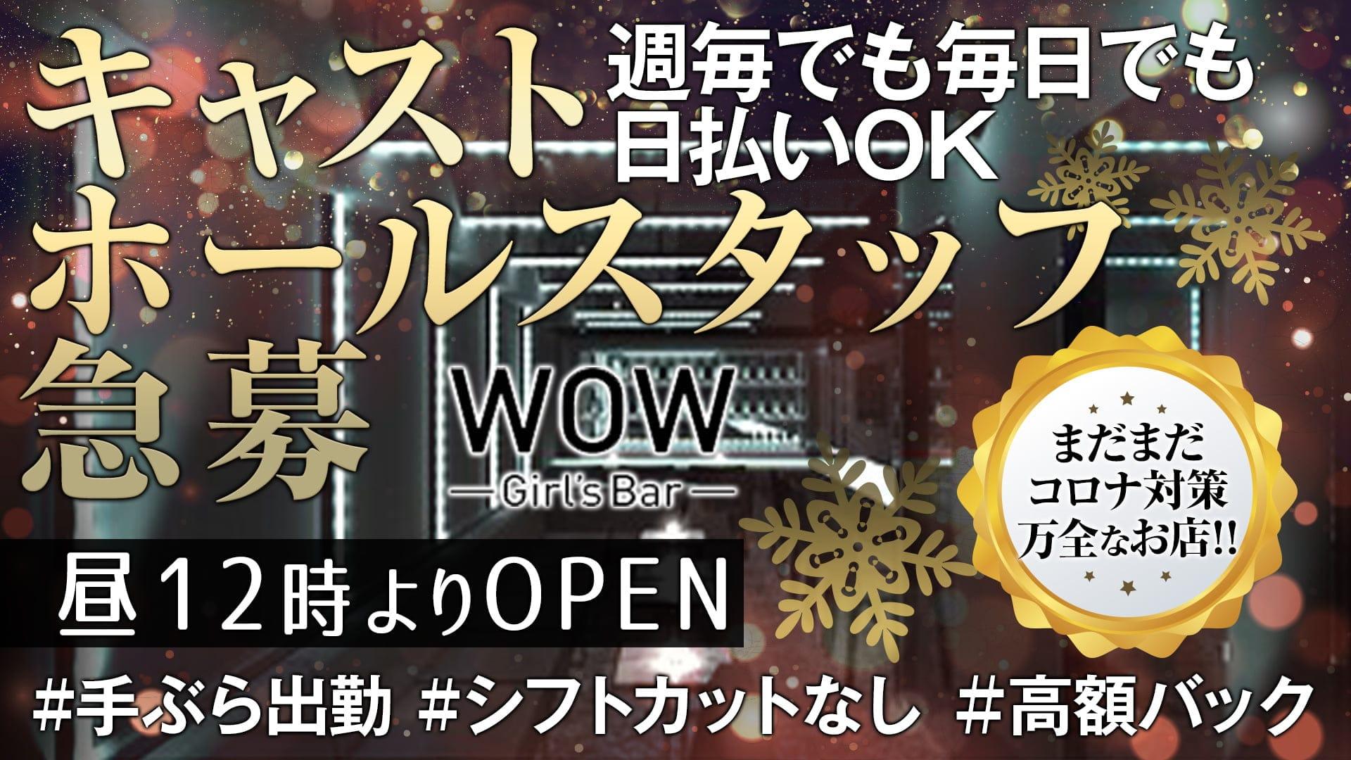 【昼・夜】Girl's Bar WOW(ワオ)【公式求人・体入情報】 錦糸町ガールズバー TOP画像