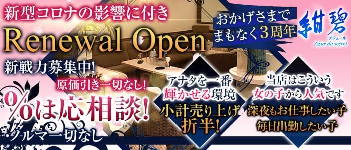 紺碧~Azur du secret~(アジュール) 歌舞伎町スナック バナー