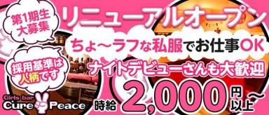 Cure Peace~キュアピース~【公式求人・体入情報】(桜木町ガールズバー)の求人・バイト・体験入店情報