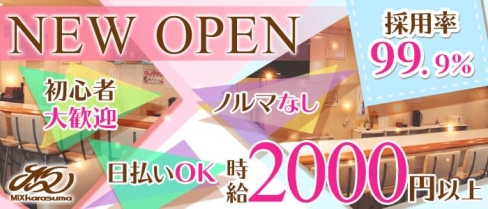 【烏丸】MIX karasuma(ミックス・カラスマ)【公式求人情報】(祇園ガールズバー)の求人・体験入店情報