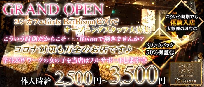 Girls Bar Bisou(ビズ) 神田ガールズバー バナー
