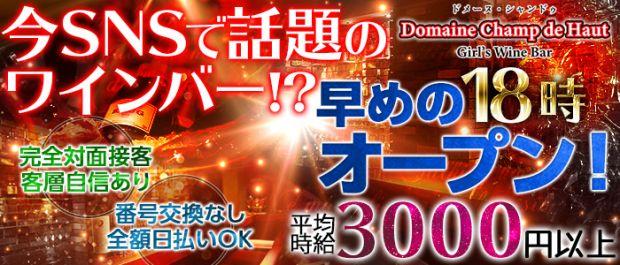 Domaine Champ de Haut<ドメーヌ・シャンドゥ>  上野 ガールズバー バナー