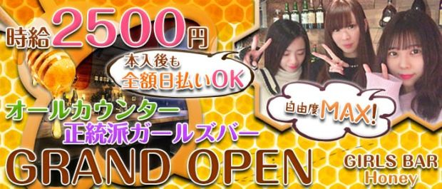 GIRLS BAR Honey<ハニー> 府中 ガールズバー バナー
