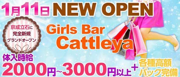 Girls Bar Cattleya<カトレア> 亀有 ガールズバー バナー