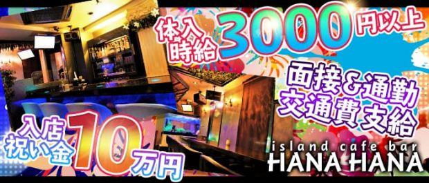 island cafe bar HANA HANA<ハナハナ> 西川口 ガールズバー バナー
